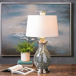 Kayla Glittering Glass Mosaic Table Lamp