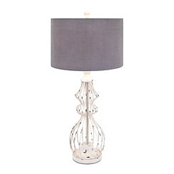 Berry Patch Open Work Iron Table Lamp