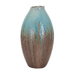 Outer Banks Reactive Glaze Blue and Brown Vase