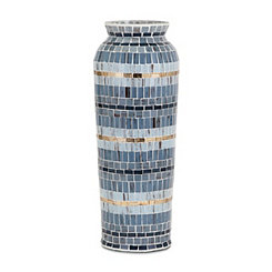 Varying Blues Cowboy Mosaic Vase