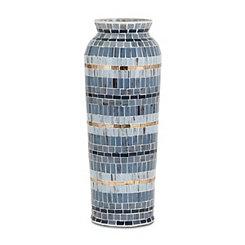 Varying Blues Cowboy Mosaic Vase