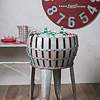 Berry Patch Galvanized Tub with Stand