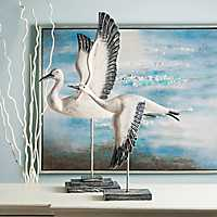 Outer Banks Birds in Flight Statues, Set of 2