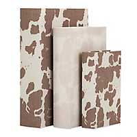 Cowboy Cow Print Nesting Book Boxes, Set of 3