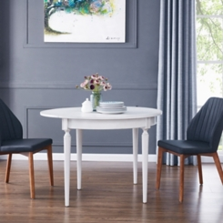 Rosanna White Convertible Console Dining Table