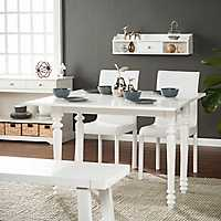 Convertible White Desk to Dining Table with Hutch
