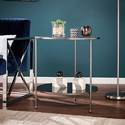 Rita Metal and Glass Black Accent Table