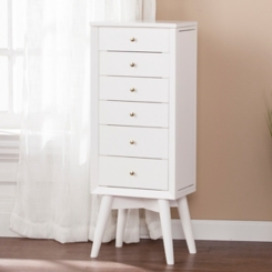 White Weston Jewelry Armoire