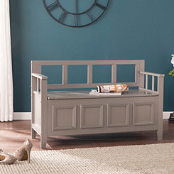 Rowe Gray Wood Storage Bench