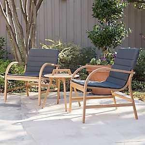 Panama 3-pc. Eucalyptus Outdoor Patio Set