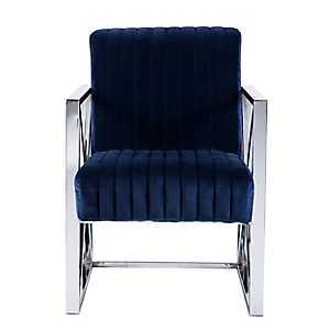 Ellis Velveteen Deep Blue Accent Chair