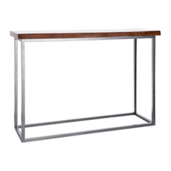 Live Edge Dark Finish Console Table