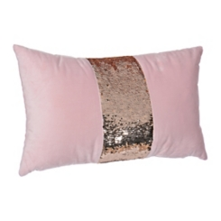 Blush Velvet Mermaid Accent Pillow