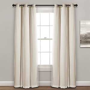 Sheer with Wheat Lining Curtain Panel Set, 84 in.