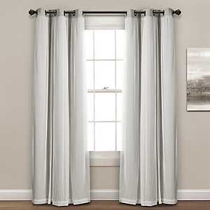 Sheer with Light Gray Curtain Panel Set, 84 in.