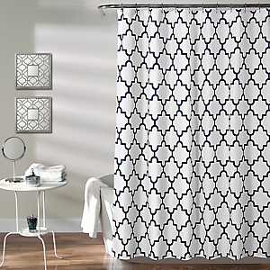 Navy Bella Shower Curtain