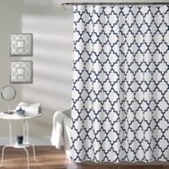 Navy Bella Shower Curtain