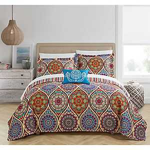 Red Leah 4-pc. King Quilt Set