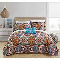 Red Leah 4-pc. Queen Quilt Set