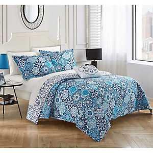 Blue Norwex 4-pc. Queen Quilt Set