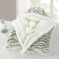Light Gray Natalie Hooded Snuggle Throw