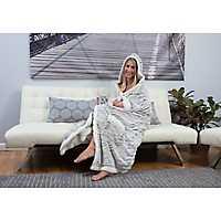 Light Gray Natalie Hooded Snuggle Throw