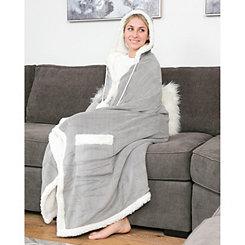 Gray Regina Hooded Snuggle Throw