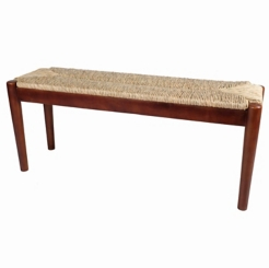 Stacey Seagrass and Wood Bench