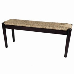 Lola Seagrass and Wood Bench