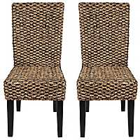 Alana Water Hyacinth Parson Chairs, Set of 2