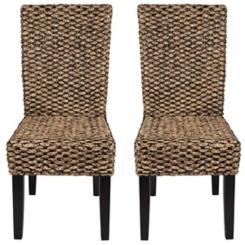 Alana Water Hyacinth Parson Chairs, Set of 2