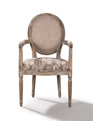 Kelsey Hand Carved French Design Accent Chair