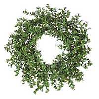 Pre-Lit Boxwood LED Wreath