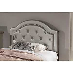 Harley Silver Faux Leather Tufted Full Headboard