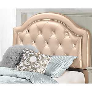 Harley Gold Faux Leather Tufted Full Headboard