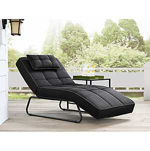 Canyon Convertible Dark Gray Chaise Lounge