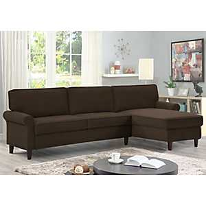 Macauley Reversible Chaise Chocolate Sectional