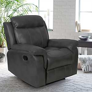 Wesley Faux Leather Dark Gray Recliner