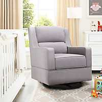 Jackie Gray Nursery Rocker Accent Chair