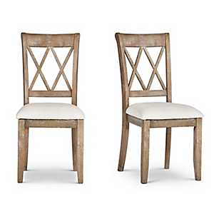 Aprilla Argyle Style Back Dining Chairs, Set of 2
