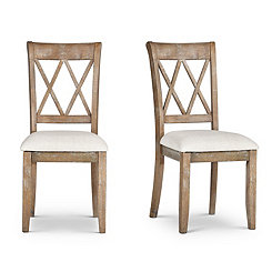 Aprilla Argyle Style Back Dining Chairs, Set of 2