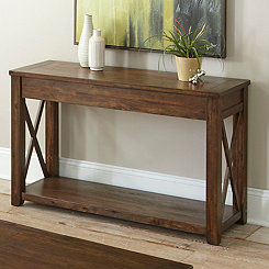 Leyton X-Bar Side Panel Console Table