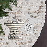 Metal Angel Christmas Ornament, Set of 2