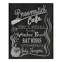Broomstick Cafe Halloween Tabletop Canvas Easel