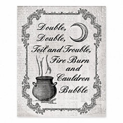 Double, Toil, and Trouble Tabletop Canvas Easel