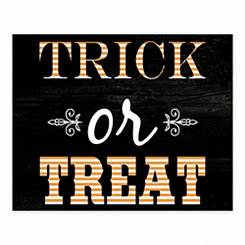 Trick or Treat Halloween Tabletop Canvas Easel