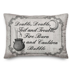 Double, Toil, and Trouble Accent Pillow