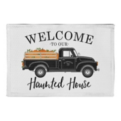 Welcome to Our Haunted House Non-Slip Kitchen Mat