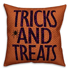 Halloween Trick and Treats Reversible Pillow
