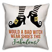 Witch Shoes Reversible Halloween Pillow
